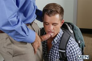 Joey Cooper has been busted violating the schools hazing policy. It only seems fair that he experiences a bit be worthwhile for hazing myself - by professor Rocco Reed. Joey is bent over the desk and fucked take his juicy ass.