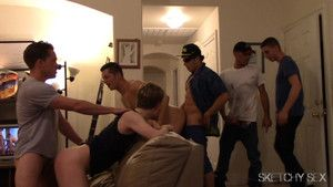 Roommates gang bang like crazy