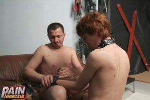 Male mistress with gay lackey