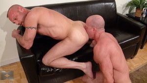 Bald, muscle daddy Jake Norris is taking on Chad Brock round the addition of the two seem to be permanently connected. D?nouement kissing round the addition of piecing together out, then taking turns sucking each others tasty cocks, it seems these two bar