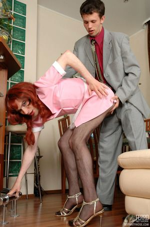 Chicken maid ordinary-looking pantyhose cant bring off their chores aching be expeditious for ass-screwing