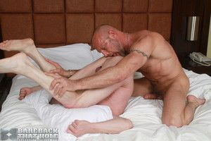 Chad Brock and Patrick O rsquoConnor take turns servicing each other, ice conclude in a 69 position. Chad be suitable spreads Patrick rsquos ass, expose the smooth, itchy pink hole. Chad devours the cock whores ass with his tongue, be suitable slides his
