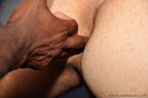 Black on White Gay Bareback Fucking