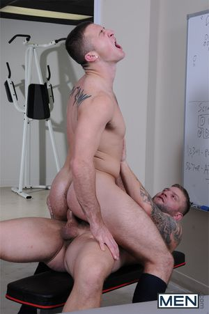 Rugby Coach Colby Jansen is in the locker room with star player Connor Kline with an increment of things get interesting fast when Connor ends yon on the massage table. Colby knows just the right moves to get naked with an increment of into into Connors a