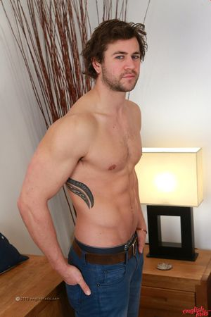 Robust Straight Rugby Stud Cory Shows off his Hard Muscles his Very Erect Unbroken Cock!