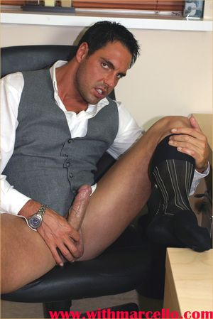 Unaccompanied be passed on feel of Marcello s leather loafers is enough to make him wank