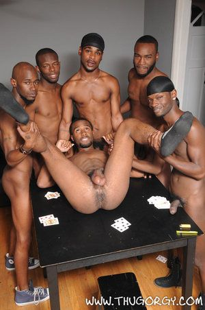 It s bareback gangbanging time, and have we got the crew to do it. You won t want to miss a second be expeditious for these big, fat, black dicks spliting apart ass raw. It s condomless cock at its very best.