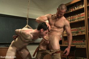 Mr Herst makes his student Rowen Jackson obey corporal punishment, electricity and unwearied shagging