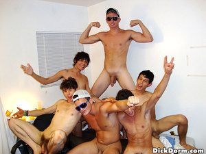 Check abroad these hot horny bi college dudes fuck to the fullest extent a finally watching their girl roommates masturbate and lick each other off