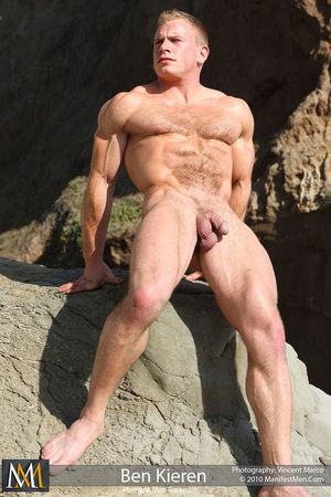 Hairy Blonde Muscle. Ben Kieren Hairy Muscle Stud