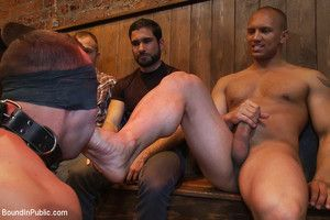 Italian bodybuilder is used and chagrined at a public bar.