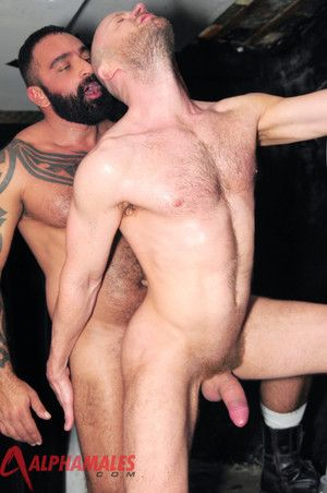 The cameras never lie and they never miss a thing as hairy muscled men Nathan Price and tattooed Tom Colt get down and dirty in a club toilet. Butt naked and sucking hard dick they intermittently jock-strap themselves forth for some hard fun beyond everyt