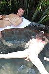 Wild gay orgy in the bathtub