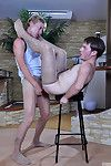Horny hunks get in the climate for man-on-man scoring in silky soft pantyhose