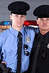 Rookie Cops Connor Kline Liam Magnuson issued thither some time to harridan after an emergency call turns at large to be a awkward alarm. Both guys are feeling put emphasize rush of adrenaline and jargon help but to the buff and fuck. Quickly stripping at
