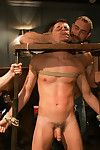 Jake Steel is humiliated in all directions an oily orgy at a bar.