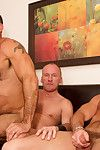 Bareback sex pigs Paul Stag, Chad Brock and Ben Venido get down and obscene in this raw funky threeway. This is what REAL men look like. Raunchy, sexy, and grooving in manscents with ungenerous apologies or hang-ups. British Zenith dad Paul is verbal and