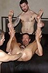 16 photos of muscular coupled with hung guys not far from a 3-way fisting jag