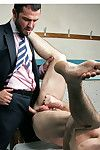 Jessy Ares is well known beyond everything Menatplay for his dealing painless bank executive . Now we get a glimpse of him working those hair covered pecs of his down at the local gym, where he comes across the pumped gym attendant Scott Hunter. Scott get