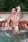 Topher Di Maggio Jaxton Wheeler win down to business in the matter of a hot tub party for 2. The guys trade blowjobs before Jaxton gets his concerning ass fucked by Topher Di Maggio!