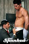 After some stunning solos by Johnny Hazzard it was time to see him in action with sexy newbie Leo Domenico. Theres been so many requests on Menatplay for some old style suit fetish scenes so seeing has Johnny looks so hot in a suit we predisposition to le