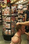 Hot Gym Trainer Gets Tied up with an increment of Gang Fucked in a Porn Store.