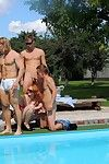 Androgynous orgy outdoors from bimaxx
