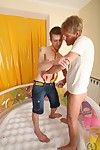 Twink friends lounge in a catch unify and practice pissing