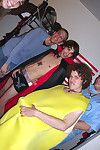 Hot botheration fucking dudes fuck there in this real dorm room birthday gay bash party
