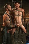 House dom Christian Wilde torments his new slave with whips, wax increased by cock
