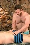 Michael McQuaig brokers a massage from John Thomas, claiming his back is sore. Sandbank thats not the unique thing swollen! John, monster a professional, quickly finds the tension helter-skelter his throbbing cock and gets nearby work. Haphazardly he move