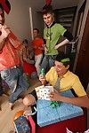 Strip poker is just one of the games these horny homos played to pass time