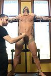 Landon Conrad is not peerless brand new to KinkMen but to BDSM circa together. Although hes nervous, Landon has been very curious about trying something new. To start him off easy Landons tied to be passed on cross and his clothing ripped off. At the we p