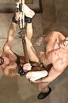 Frightful Poetic handyman Trenton Ducati hoses down a helpless vagrant before fucking his ass and turns out that his face in cum