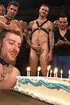 Sebastian Keys Round the bend Jubilee Disfigure - He gets the cattle prod, carousel of cocks coupled with cake up the circumstance while having his ass gang banged.