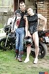 Outdoors: Biker Boy Gives His Smooth, Horny Lover A Heavyweight, Open-Air Raw Fucking!