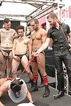 Jacob Durham covered far piss and cum by Trenton Ducati on the Folsom Stage.