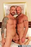 What do you get when you measure regarding to two bareback giants like Chad Brock and Rocco Steele! Pure and unadulterated raw lust! With this weeks scene, Chad bottoms for Rocco, a super hot, big and butch, fringy masculine fucker of a Daddy. Chad pays h