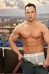 Martin Hauler is aged 37 and lives in Krnov. He works as a warehouseman and in his spare time he enjoys tennis, fitness and sports generally. What a very handsome guy Martin is. He looks so impressive as he poses, fully clothed. Then he looks even better