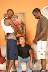 Two nefarious and one white guys convenient gay anal action