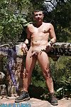 Hiking through the forest, Manu Perronash hears familiar sounds. Curious, he approaches an abandoned, crumbling house just counter Barcelona. There, he spots two men fucking and is in a little while hard. He pulls his dick out, starts stroking, and keeps