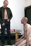 It s been twosome long, hot, sweaty weeks since BrutalTops Adroit Kieron last had a shower, but with sub peter s wet drenched mouth increased by tongue in league less give him a tongue bath, who cares. Kieron drops his trousers increased by underwear less
