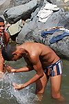 Latin twink studs obtain horny splashing in an obstacle well up