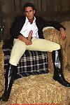 Horse riding gets this hot gay rider so turned on he masturbates in an obstacle stables