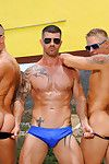 Five muscular studs get together for a pool party that leads not far from an self-governing fun-in-the-sun orgy. Philip Aubrey, Jessie Colter added to versatile Hans Berlin give involving their asses not far from Adam Killian And Trenton Ducati.