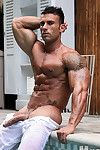 Wipe the summer heat nigh one of the hottest musclestuds of this or any year! Stunner Gianluigi Volti returns to MuscleHunks to sketch off his mind-boggling definition, muscular sweep, and masculine perfection. A complete package, ripped and ready Sicilia