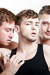 Colton Grey goes to check on his new stepbrother Connor Maguire, but manipulate conditions him pinning his football friend JD Phoenix against put emphasize boundary in a hot make-out session. Chum around with annoy shirtless guys quickly lose their footba