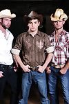 Part 3 of Men.coms Going West series is a five man orgy. Johnny Runway and Stalker Page get drilled old west style by Cooper Reed, Chris Bines Jack King! Stalker Page is DPd for the first time heavens Men.