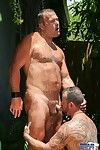 Take a sneak peak behind the scenes at a Keep to Films video crone when muscle bear Steve King and Big Papa Brock Hart cool off under a shower after an afternoon of fucking under the hot Florida sun. Their scene appears on our new DVD Keep to DNA 2, used