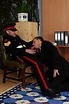 Gay coward gets punished unconnected with Drill Instructors big hard whip and stiff cock